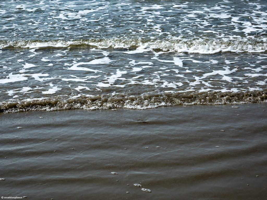 Sand, Strand, Meer, Wasser, Wellen, Meerschaum, Lichtreflexe
